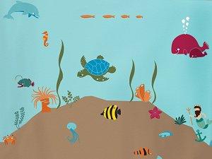 Under The Sea Wall Mural Stencil Kit